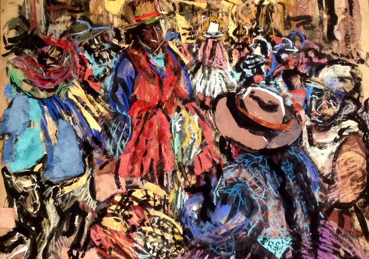 Стритмаркет Куско. Перу. Коллаж